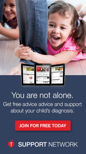Get advice on your child's diagnosis by joining our Support Network